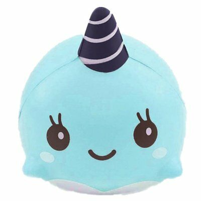 9CM Soft Whale RrQuickies Squishy Slow Rising Squeeze Kid Toy Blue