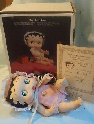 Rare HTF Limited Edition Baby Betty Boop Doll IOB COA