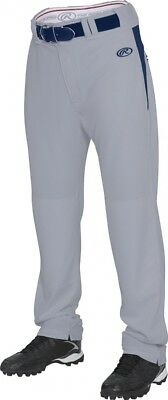 (2X, Blue Grey/Navy) - Rawlings Men's Semi-Relaxed Pants with Waist Inserts