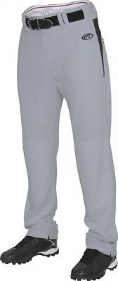 (2X, Blue Grey/Black) - Rawlings Men's Semi-Relaxed Pants with Waist Inserts