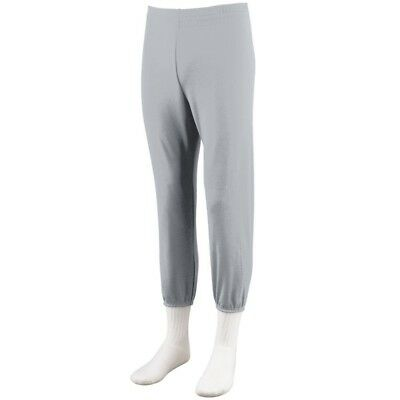 (Small, Silver Grey) - Augusta Sportswear BOYS' PULL-UP BASEBALL PANT. Delivery