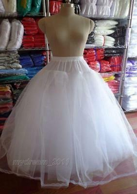 White 3 or 8 Layers Tulle Hoopless Wedding Dress Underskirt/Underdress Petticoat
