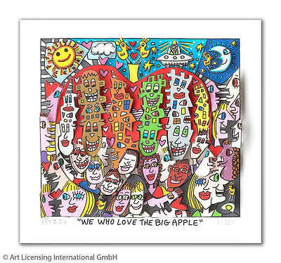 "Original James Rizzi 3 D Bild "" We who love the big apple  "" NEU mit Zertifikat"