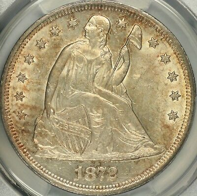 1872 Seated Dollar PCGS MS62