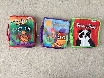 Lot Of 3 Lamaze Baby Soft Book Toy