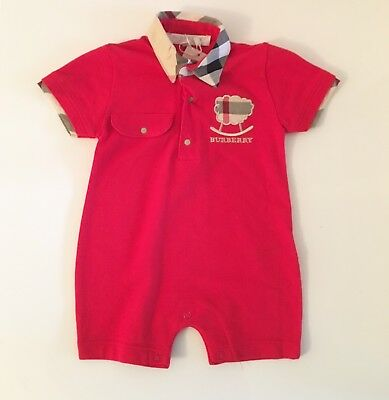 Baby Burberry Body Suit Brand New With Tags 1 Month