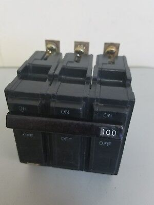 GE THQB32100, 100 Amp 3 Pole 240 Volt Circuit Breaker- WARRANTY
