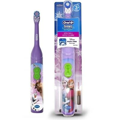 Oral-B Stages Power Disney Frozen Kids Childrens Battery Toothbrush + Magic App