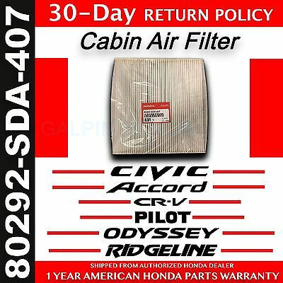 Genuine OEM Honda Civic Accord Odyssey Pilot CR-V Ridgeline Cabin Air Filter