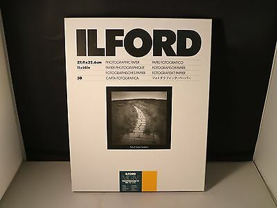 ILFORD Multigrade IV RC DELUXE Resin Coated, 11x14, PEARL, VC Paper, 50 Pack