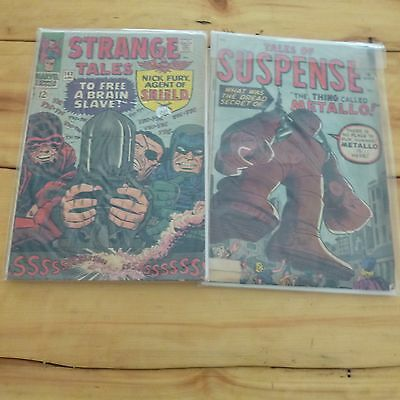2 Comic Books From The 1960's - Tales of Suspense and Strange Tales