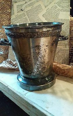 Old silverplate urn with handles rustic look perfect for shabby chic decor