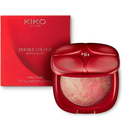 KIKO Double colour baked blush - 01 LIVELY CORAL
