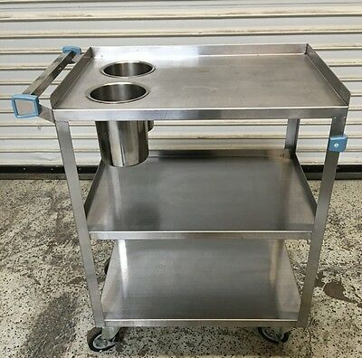 3 Tier Bus Utility Cart Stainless Steel VollRath #6534 Commercial NSF Approved