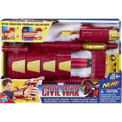 Marvel Avengers Iron Man Slide Blast Armour Dress Up / Age 5+
