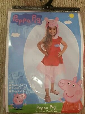 Peppa Pig Toddler Costume Size 3T - 4T