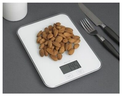 Digital Weighing Food Scale - Electronic Digital Kitchen Weight Scale - White