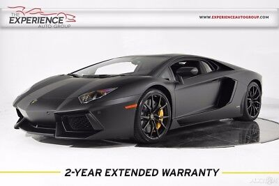2015 Lamborghini Aventador LP 700-4 Matte Forged Transparent Sensors Camera Sound Electric Heated Q-Citura Carbon