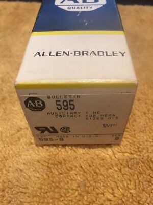 Allen Bradley 595-B Auxiliary Contact 1 N.C. for NEMA 0-5 New In Box