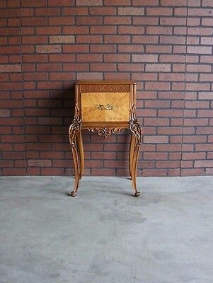 Antique Nightstand / Bedside Table / Vintage Nightstand / French Nightstand