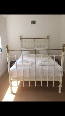 Beautiful Victorian Cast Iron Double Bed with additional supporting base