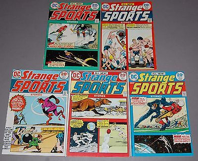 STRANGE SPORTS STORIES #1 2 3 4 5 HIGH GRADE DC Bronze Age Comic 5pc Run