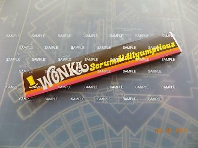 Willy Wonka & Chocolate Factory Replica Scrumdiddlyumptious Bar