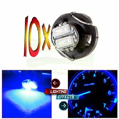 10X Blue T3 Neo Wedge 2SMD LED A//C Climate Control Light Bulb Switch//Radio Lamps