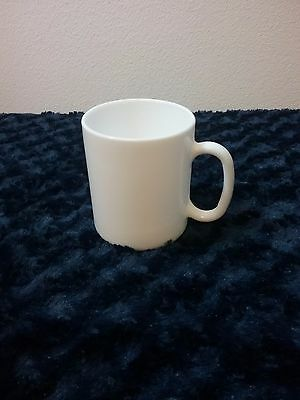white milk glass coffee mug Arcopal France perfect condition no cracks or chips