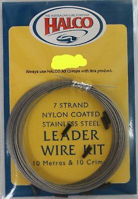 Halco 7 Strand Nylon Coated Leader Wire Kit Line & Braid