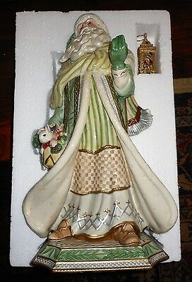 "Fitz & Floyd Christmas Gregorian Collection Santa Figurine 21"" Large *new In Box"