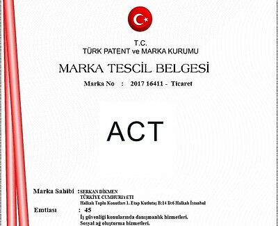 ACT trademark for sale ( act.com.tr )