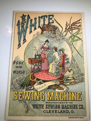 1800's Victorian Trade Card - White Sewing Machine