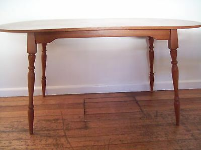 Vintage Retro Table Wooden Dining Kitchen