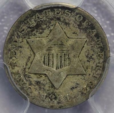 1851 O Three Cent Silver PCGS F15 - Nice Type Coin *DoubleJCoins* 601A9