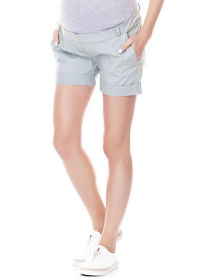 NEW - Imanimo - Sue Chino Shorts in Sage - Maternity Shorts