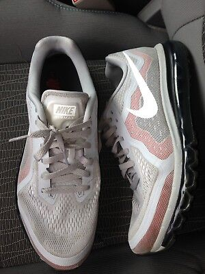 Nike Air Max Mens Running Shoes Size 11.5 Red Black Workout White Gray Silver