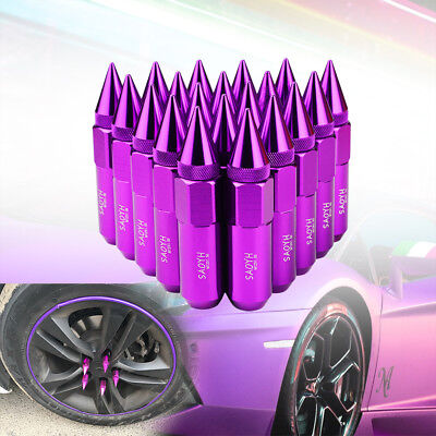 GOLD Lug Nuts M12X1.5 Cap Spiked Extended Tuner Aluminum 60mm Wheels Rims 20PCS