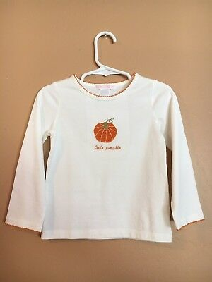 "NWT Janie And Jack Toddler Girl's Long Sleeve ""Little Pumpkin"" Shirt Top Size 2T"