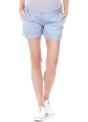 NEW - Imanimo - Sue Chino Shorts in Sky Blue - Maternity Shorts
