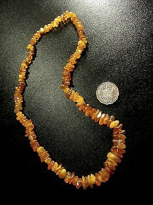 Vintage Genuine Baltic Amber Necklace approx. 66cm long