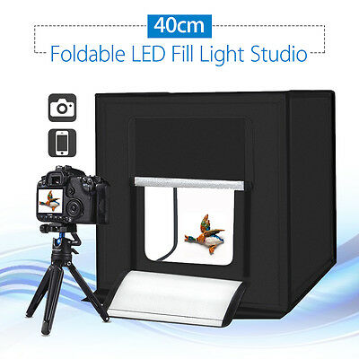 PULUZ 40cm Photography Cube SoftBox Kit Light Tent 5500LM Convenient High Energy