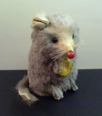 Cute Vintage ORIGINAL FUR TOYS GRAY MOUSE, W. Germany