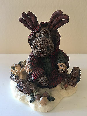 "Boyds Bears 1994 MANHEIM THE ""ECO-MOOSE"" #2243 RETIRED Christmas Holiday Winter"