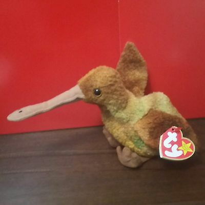 Ty Beanie Babies BEAK the Kiwi Bird, with CANADIAN TAGS.