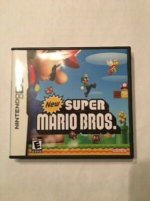 New Super Mario Bros. (Nintendo DS, 2006) With Case And Manuals