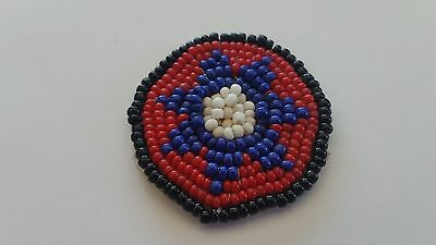 Vintage Southwest Native American Star Seed Bead Applique Patch