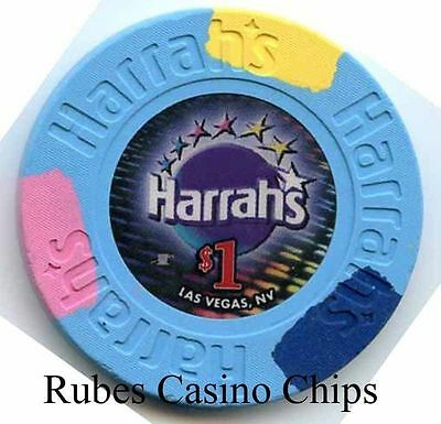 1.00 Chip from the Harrahs Casino in Las Vegas Nevada Small Inlay