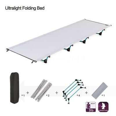 Portable Folding Camping Cot Bed Ultralight Outdoor Camping Sleeping Bed UK M2E5