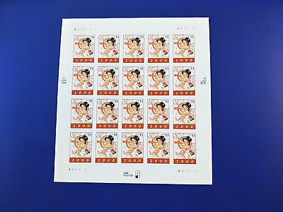 US 33c Baby New Year Stamp Sheet Mint Never Hinged    Free Postage!